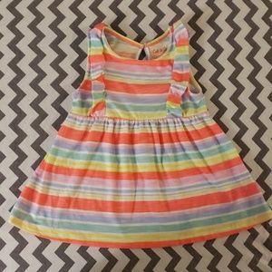 Toddler girl striped summer dress